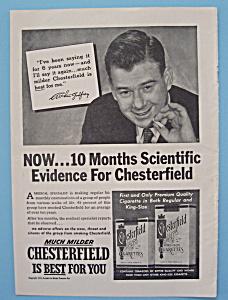 Vintage Ad:1953 Chesterfield Cigarette w/Arthur Godfrey (Image1)