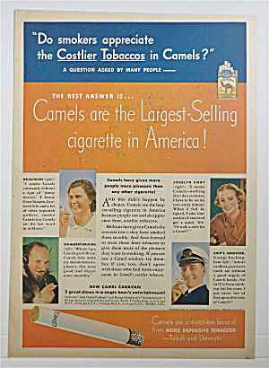 1937 Camel Cigarettes W/hicks, Wilkins, Libby & More