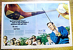 Vintage Ad: 1969 Sears Sports Center w/Arnold Palmer (Image1)