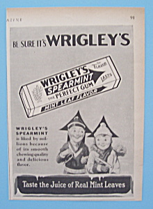Vintage Ad: 1929 Wrigley's Spearmint Gum (Image1)