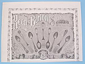 Vintage Ad: 1895 Reed & Barton Silversmiths (Image1)