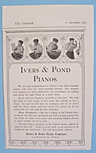 Vintage Ad: 1895 Ivers & Pond Pianos