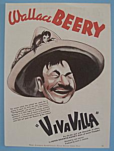 Vintage Ad: 1934 Viva Villa w/ Wallace Beery (Image1)