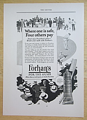 1924 Forhan's For The Gums with Man Golfing  (Image1)