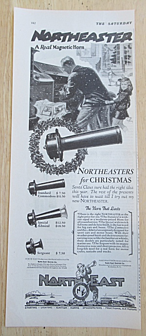 1926 Northeaster Magnetic Horn with Man & Little Girl  (Image1)