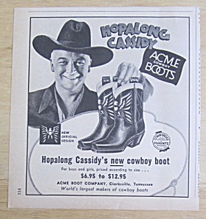 1951 Acme Cowboy Boots with Hopalong Cassidy (Image1)