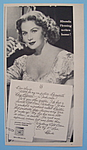 Vintage Ad: 1953 Woodbury Cold Cream w/ Rhonda Fleming (Image1)