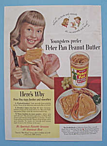 Vintage Ad: 1950 Peter Pan Peanut Butter