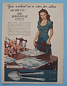1946 1881 Rogers Bros. Silverplate with Jeanne Crain (Image1)