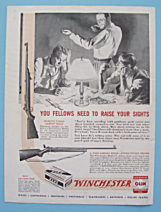 1946 Winchester Rifles With A Group Of Men Talking