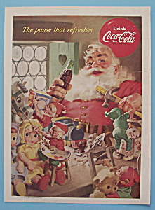 1953 Coca-Cola (Coke) with Santa Claus Holding Bottle (Image1)