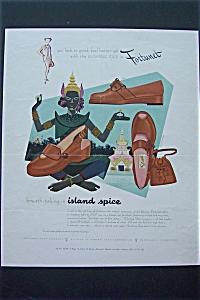 1952 Fortunet Shoe Magazine Proof w/Egyptian Statue (Image1)