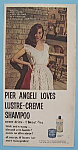 Vintage Ad: 1957 Lustre-Creme Shampoo w/ Pier Angeli (Image1)