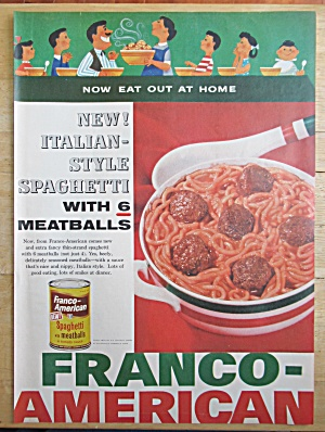 1957 Franco American Spaghetti & Meatballs with Family  (Image1)
