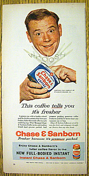 1957 Chase & Sanborn Coffee w/Tom Ewell (Image1)