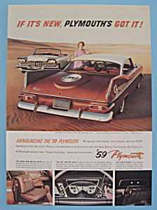 Vintage Ad: 1958 Plymouth