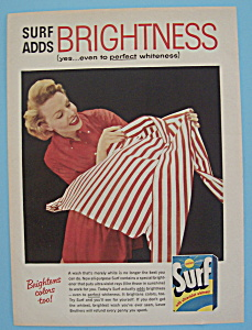 1957 Surf Laundry Detergent With Woman Shaking A Shirt