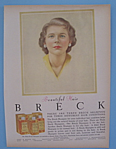 1957 Breck Shampoo with Lovely Woman (Image1)