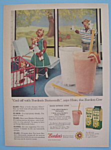 Vintage Ad: 1957 Borden's Butter Milk