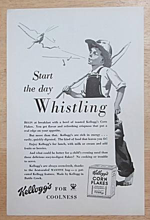 1934 Kellogg Corn Flakes w/ Boy Whistling While Walking (Image1)