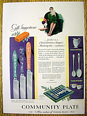 1928 Community Plate with Jeweled Handled Knives (Image1)