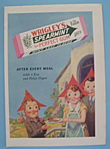 Vintage Ad: 1930 Wrigley's Spearmint Gum (Image1)