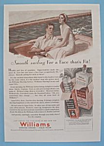 Vintage Ad: 1930 Williams Shaving Cream (Image1)