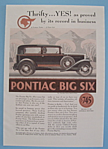 1930 Pontiac Big Six With The Two Door Sedan