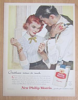 1956 Philip Morris Cigarettes/Woman Sewing Man's Shirt (Image1)