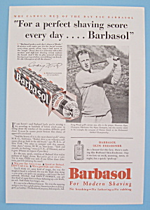 Vintage Ad: 1930 Barbasol with Craig Wood (Image1)