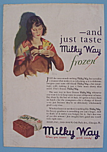 Vintage Ad: 1930 Milky Way Candy Bar (Image1)
