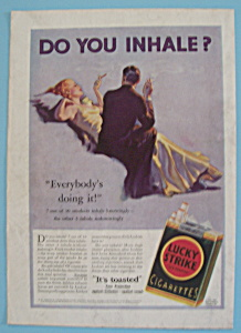 1932 Lucky Strike Cigarettes with Man & Woman Smoking (Image1)