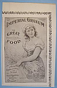 Vintage Ad: 1892 Imperial Granum (Image1)
