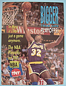 Vintage Ad: 1991 NBA On TNT w/ Magic Johnson (Image1)