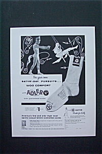 1954 Adler Socks Magazine Proof w/Man Holding Arms Out (Image1)
