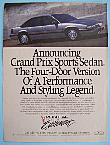 Vintage Ad: 1989 Pontiac Grand Prix Sports Sedan