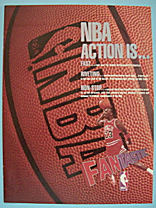 1988 Nba With Basketball's Great Player Michael Jordan