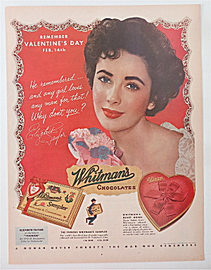 1952 Whitman Chocolates with Elizabeth Taylor (Image1)