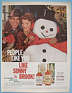 Vintage Ad: 1962 Sunny Brook Bourbon Whiskey (Image1)