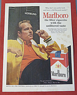 1962 Marlboro Cigarettes With Paul Hornung (Image1)