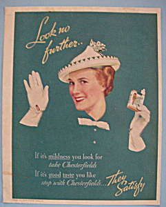 1937 Chesterfield Cigarettes with Woman Waving (Image1)