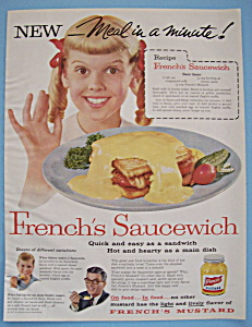 Vintage Ad: 1957 French's Mustard