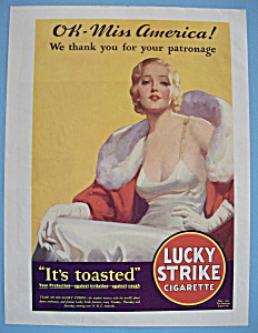1932 Lucky Strike Cigarettes With Man & Woman Smoking