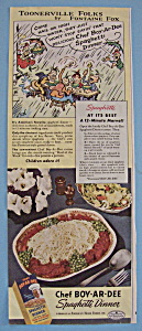 Vintage Ad: 1946 Chef Boy-ar-dee Spaghetti Dinner