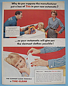 1957 Automatic Washer w/Man & Tide Detergent (Image1)