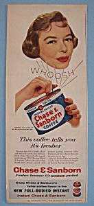 Vintage Ad: 1957 Chase & Sanborn Coffee w/ Diana Lynn (Image1)
