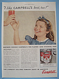 Vintage Ad: 1940  Campbell's Tomato Juice (Image1)
