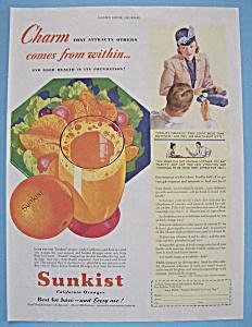 Vintage Ad: 1940 Sunkist California Oranges (Image1)