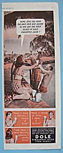 Vintage Ad: 1940 Dole Pineapple Juice (Image1)
