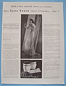 Vintage Ad: 1932 Woodbury Cold Cream w/ Lupe Velez (Image1)